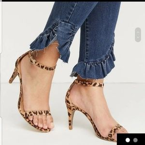 Lane Bryant Shoes - Leopard Strap Ankle High Heels